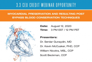 Webinar Myocardial Preservation and Resulting Post Bypass Blood Conservation Techniques